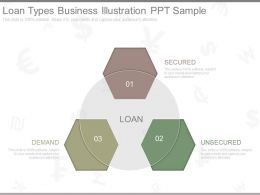One Loan Types Business Illustration Ppt Sample