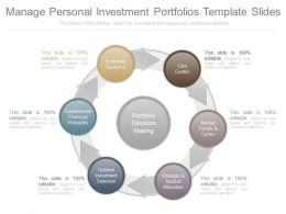 One Manage Personal Investment Portfolios Template Slides