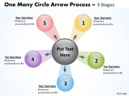 One Many Circle Arrow Process 5 Stages 31