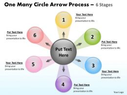 One Many Circle Arrow Process 6 Stages 28