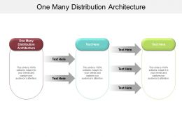One Many Distribution Architecture Ppt Powerpoint Presentation Portfolio Guide Cpb