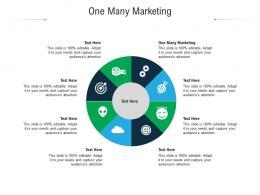 One Many Marketing Ppt Powerpoint Presentation Summary Slides Cpb