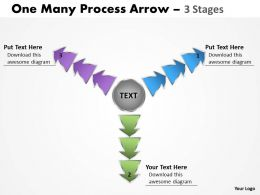 One Many Process Arrow 3 Stages 5
