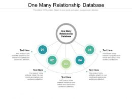 One Many Relationship Database Ppt Powerpoint Presentation Visual Aids Slides Cpb
