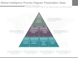 One Market Intelligence Process Diagram Presentation Ideas
