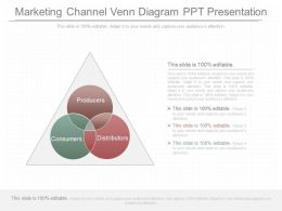 One Marketing Channel Venn Diagram Ppt Presentation