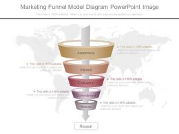 One Marketing Funnel Model Diagram Powerpoint Image