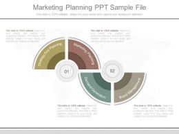 One Marketing Planning Ppt Sample File