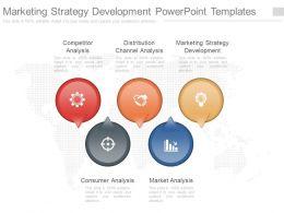One Marketing Strategy Development Powerpoint Templates