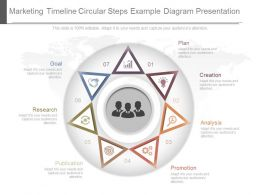 One Marketing Timeline Circular Steps Example Diagram Presentation