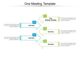 One Meeting Template Ppt Powerpoint Presentation Slides Example Topics Cpb