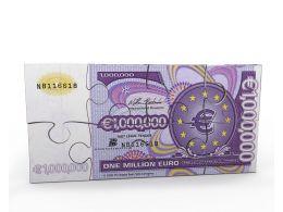 One Million Euro On Puzzle Stock Photo