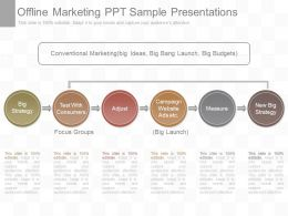 One Offline Marketing Ppt Sample Presentations