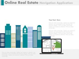 one Online Real Estate Navigation Application Flat Powerpoint Design