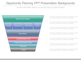 One Opportunity Planning Ppt Presentation Backgrounds