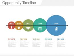 one Opportunity Timeline To Identify Growth In Sales Powerpoint Slides