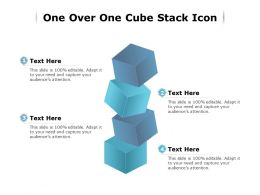 One Over One Cube Stack Icon