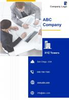 One Page ABC Company Contact Us Page Executive Summary Example Infographic PPT PDF Document