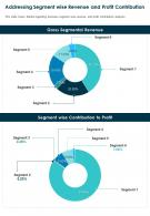 One Page Addressing Segment Wise Revenue And Profit Contribution Report Infographic PPT PDF Document