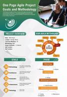 One Page Agile Project Goals And Methodology Presentation Report Infographic PPT PDF Document