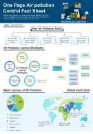One Page Air Pollution Control Fact Sheet Presentation Report Infographic PPT PDF Document