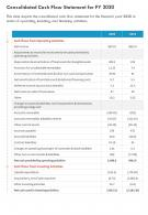 One Page Audited Cash Flow Statement For FY 2020 Template 309 Report Infographic PPT PDF Document