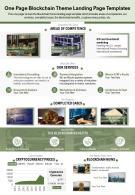 One Page Blockchain Theme Landing Page Templates Presentation Report PPT PDF Document