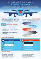 One Page Brand Style Guide Template For Aviation Company Presentation Report Infographic PPT PDF Document