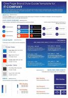 One Page Brand Style Guide Template For IT Company Presentation Report Infographic PPT PDF Document