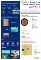 One Page Brand Style Guide Template For Resort Presentation Report Infographic PPT PDF Document