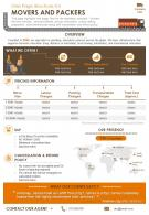 One Page Brochure For Movers And Packers Presentation Report Infographic PPT PDF Document