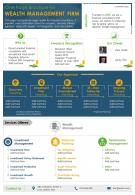 One Page Brochure For Wealth Management Firm Presentation Report Infographic PPT PDF Document