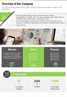 One Page Business Outline Presentation Report Infographic PPT PDF Document