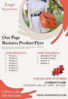 One Page Business Product Flyer Presentation Report Infographic PPT PDF Document