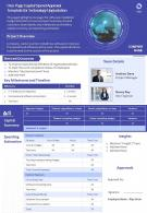 One Page Capital Spend Approval Template For Technology Upgradation Report Infographic PPT PDF Document