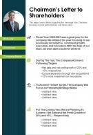 One Page Chairmans Letter To Shareholders Presentation Report Infographic PPT PDF Document