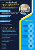 One Page Chamber Of Commerce Strategic Plan With Priority Goals Presentation Report Infographic PPT PDF Document