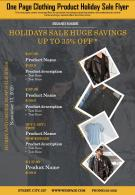 One Page Clothing Product Holiday Sale Flyer Presentation Report Infographic PPT PDF Document