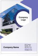 One Page Company Logo Contact Us Page Corporate Company Report Mobile First Infographic PPT PDF Document