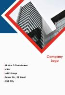 One Page Company Logo Contact Us Page Example Internal Control Reporting Infographic PPT PDF Document