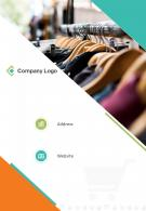 One Page Company Logo Contact Us Page Retail Company Presentation Report Infographic PPT PDF Document