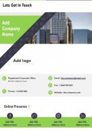 One Page Company Name Contact Us Page Human Resource Report Infographic Ppt Pdf Document