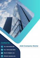 One Page Company Name Contact Us Page Property Management Report Infographic PPT PDF Document