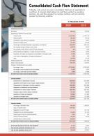 One Page Consolidated Cash Flow Statement Template 421 Report Infographic PPT PDF Document