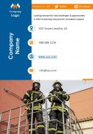 One Page Contact Us Page Annual Report For Fire Department Firm Infographic PPT PDF Document
