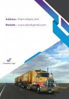 One Page Contact Us Page Commercial Vehicle Company Annual Report Infographic PPT PDF Document