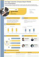 One Page Corporate Company Report Mobile First Presentations Report Infographic PPT PDF Document