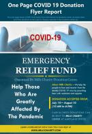 One Page COVID 19 Donation Flyer Report Presentation Report Infographic PPT PDF Document