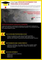 One Page Detailed Statement For Personal Scholarship Presentation Report Infographic PPT PDF Document
