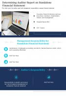 One Page Determining Auditor Report On Standalone Financial Statement Infographic PPT PDF Document